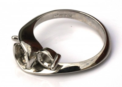 Platinum ring ready to set