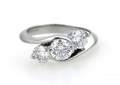 Platinum Trilogy Diamond Engagement Ring