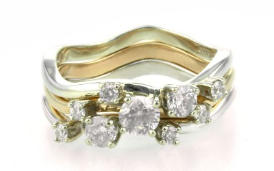 Bespoke Handmade Diamond Stacking Rings