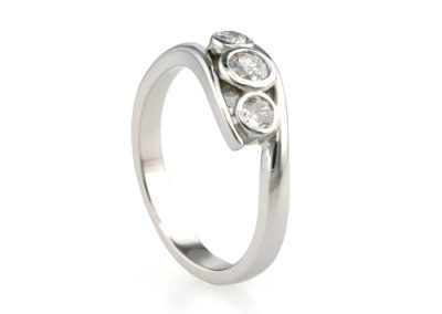 Platinum Trilogy Diamond Ring