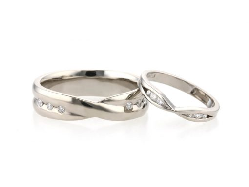 Handmade Infinity Inspired Wedding Rings