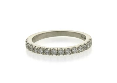 Handcrafted Platinum Diamond Eternity Ring