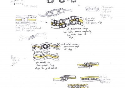 1 Initial ring sketches design process