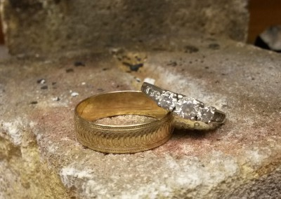 2 existing rings ready to be melted down