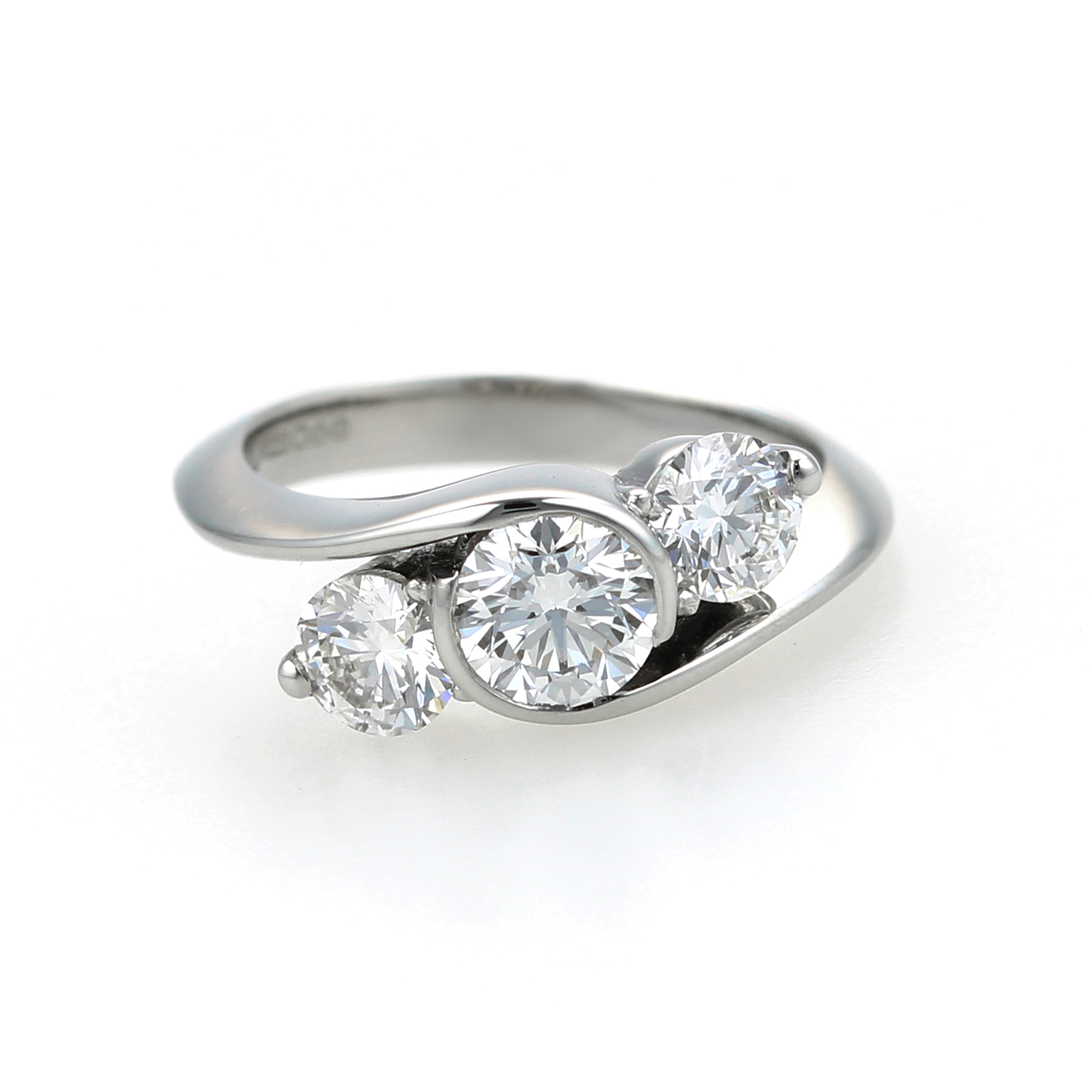 Platinum and diamond handmade engagement ring 2