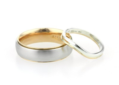 22ct, 9ct Yellow Gold and Platinum Wedding Rings