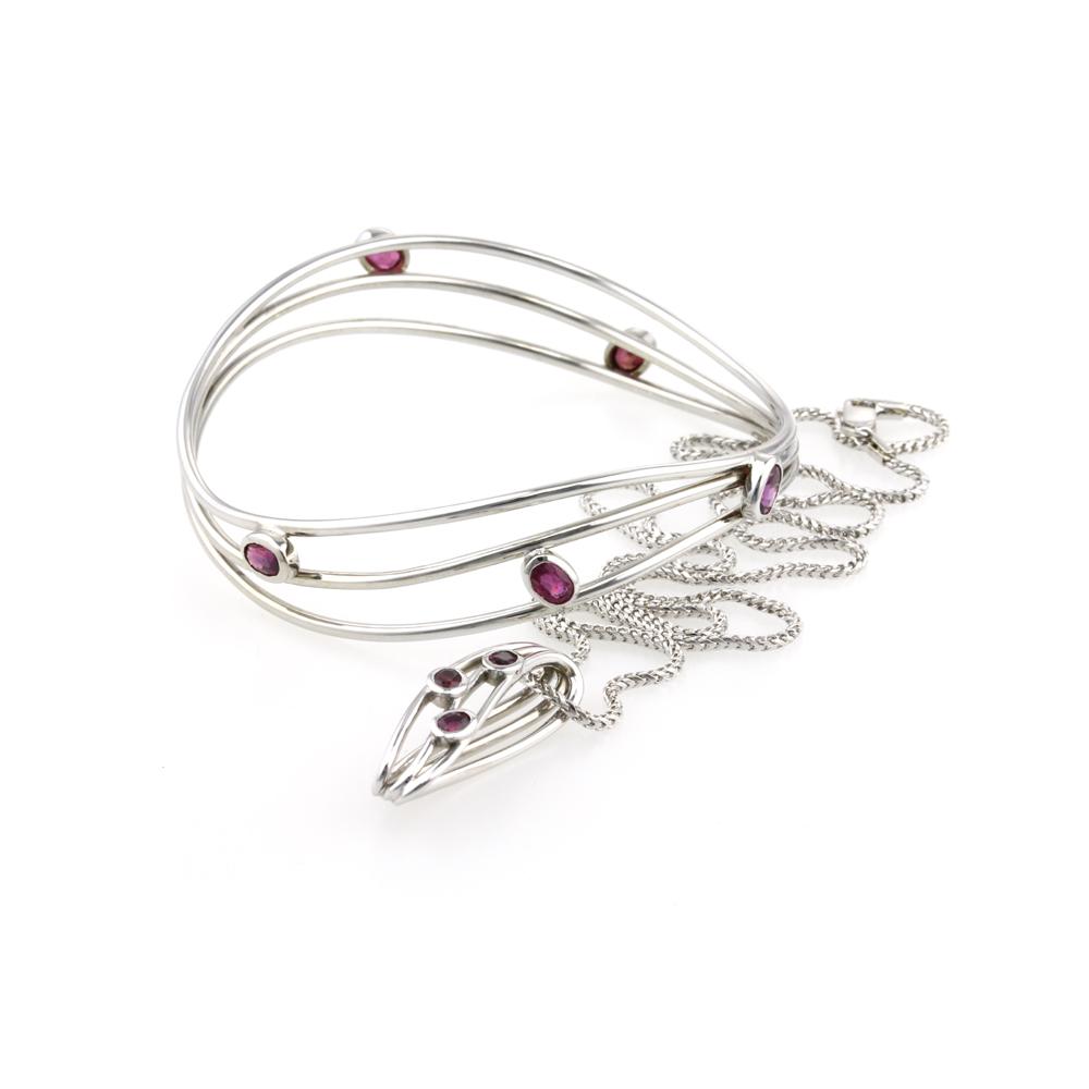 ruby pendant and bangle 2