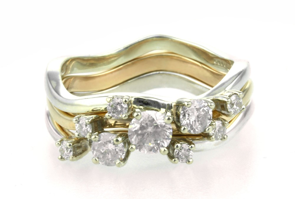 Bespoke Handmade Diamond Stacking Rings