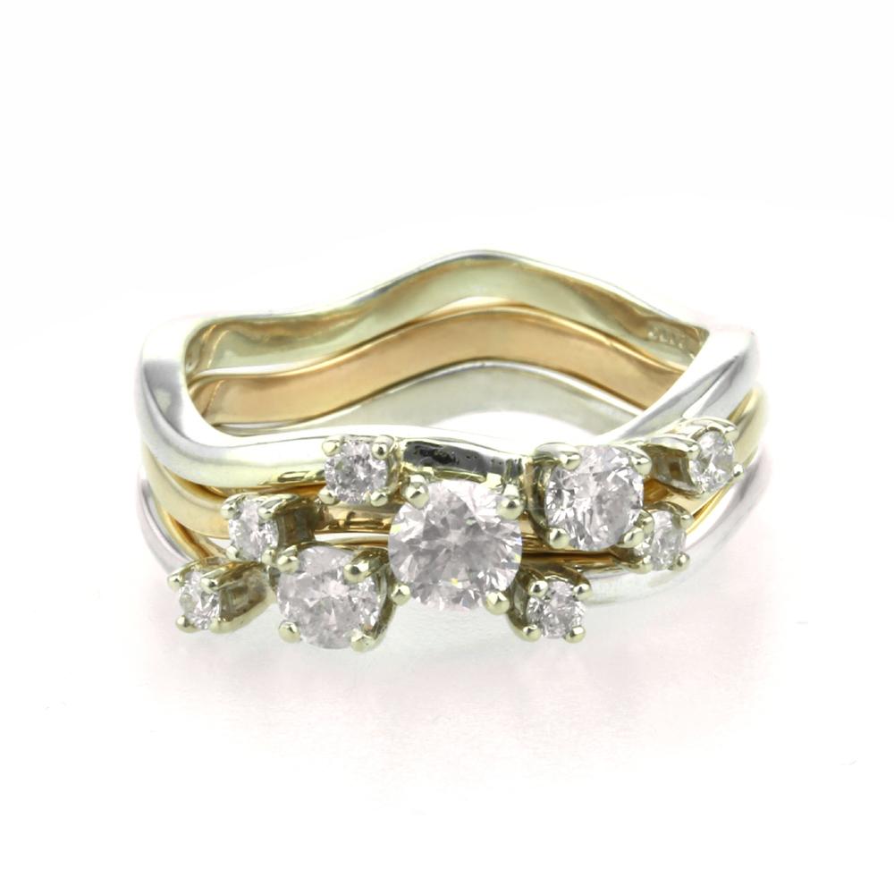 Bespoke Handmade Diamond Stacking Rings Aimee Winstone