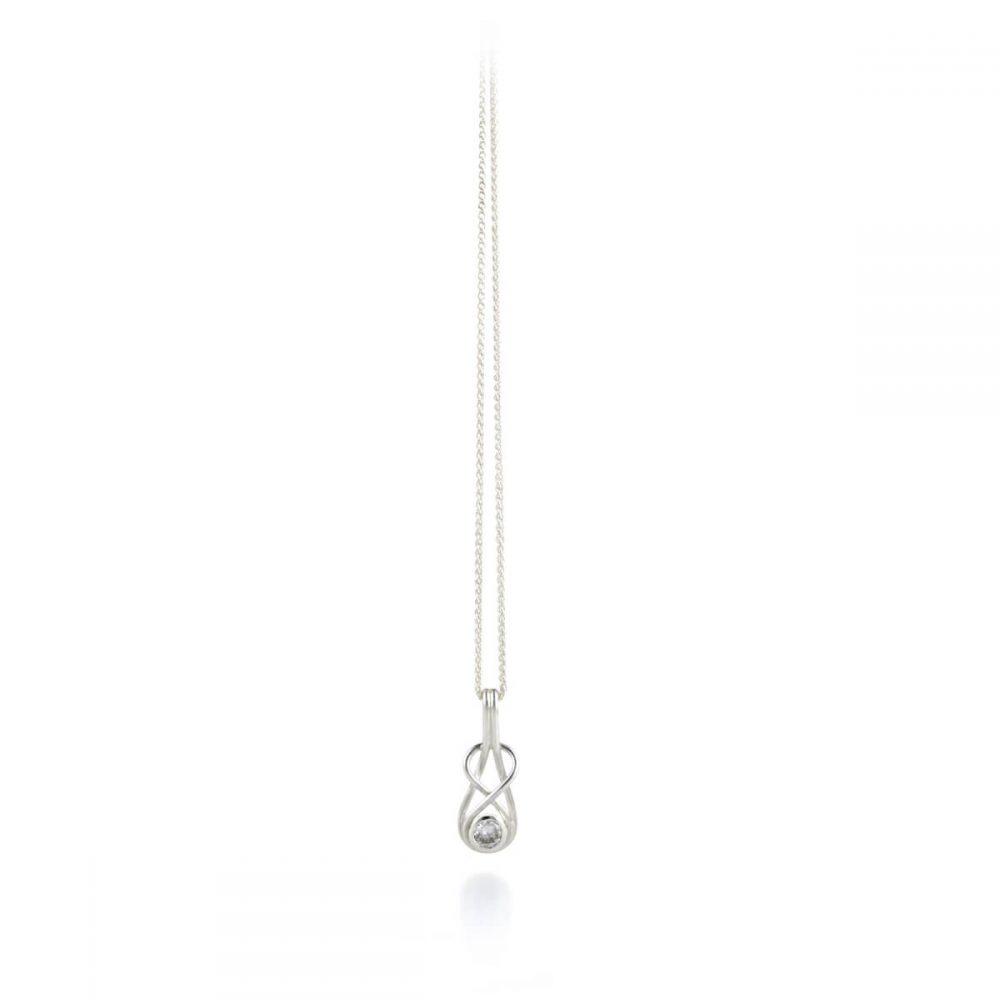 Silver Diamond Knot Pendant - Aimee Winstone Handmade Jewellery