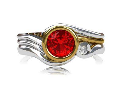 18ct white gold wedding ring CAD design