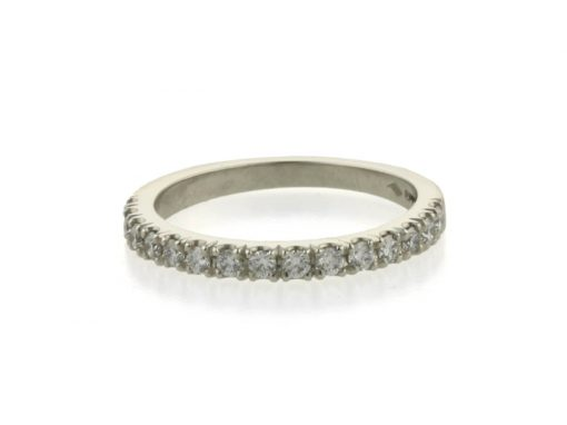 Handcrafted Platinum Diamond Eternity Ring