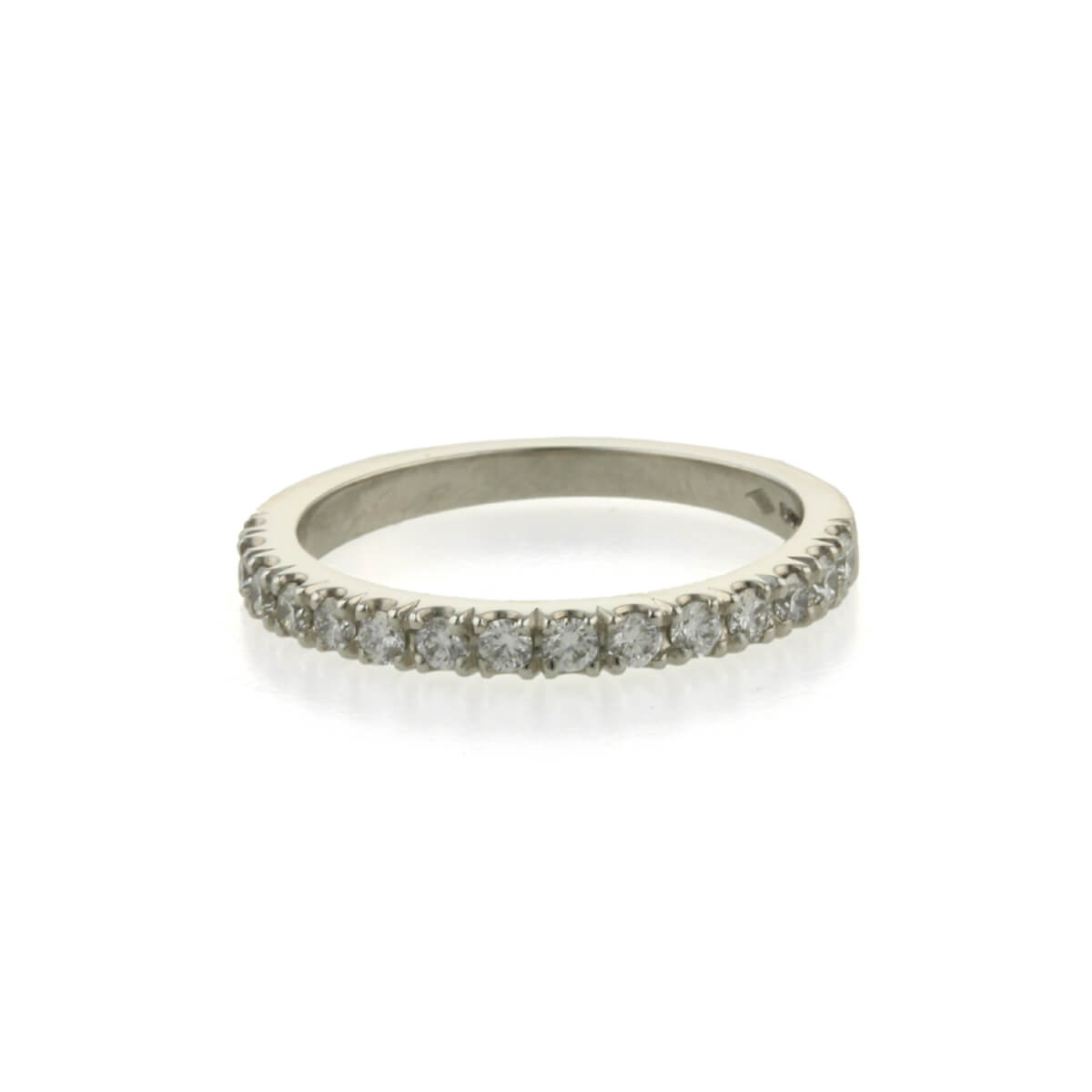 Platinum diamond eternity ring tiny