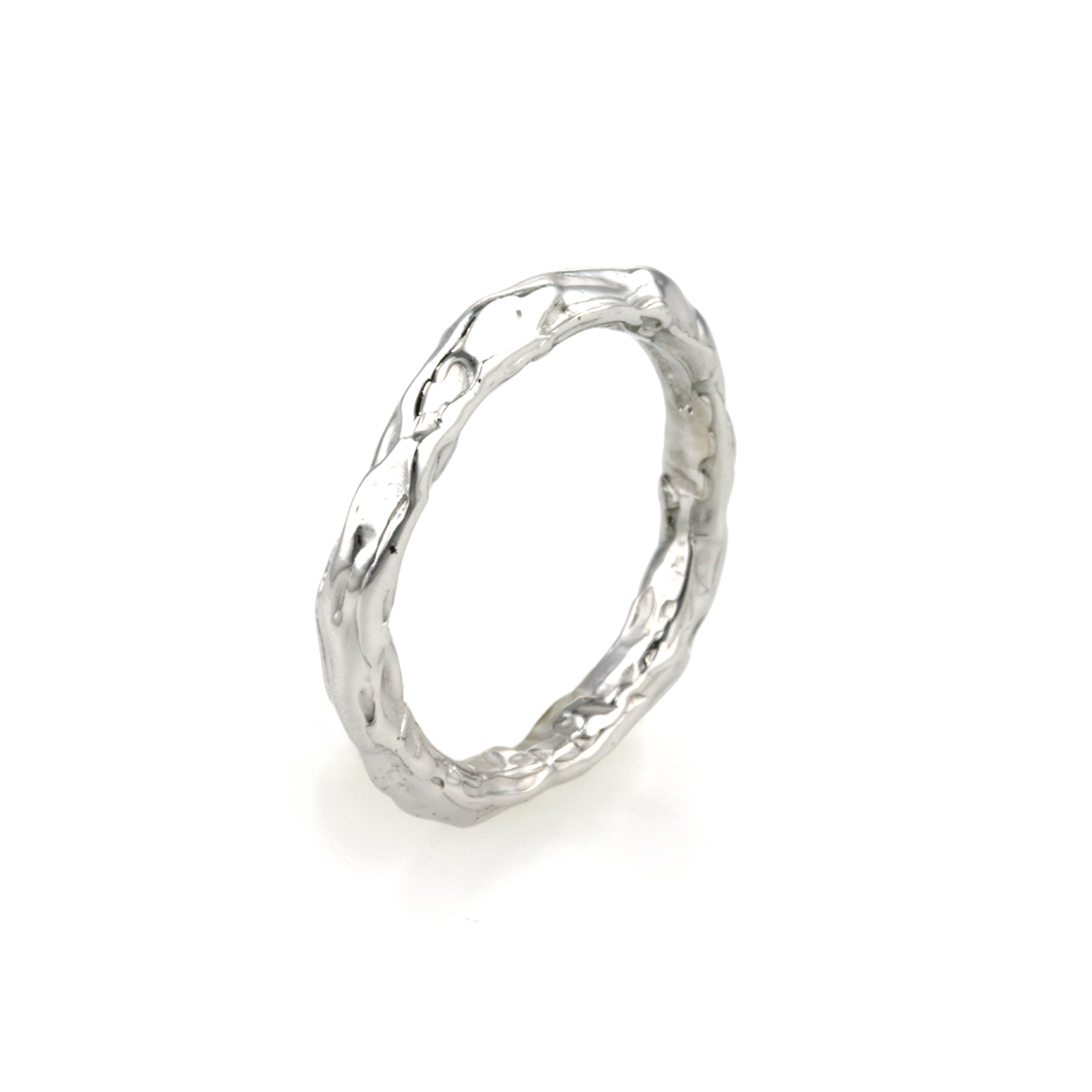 18ct White Gold Twig Wedding Ring