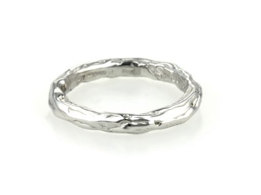 18ct White Gold Twig Inspired Wedding Ring