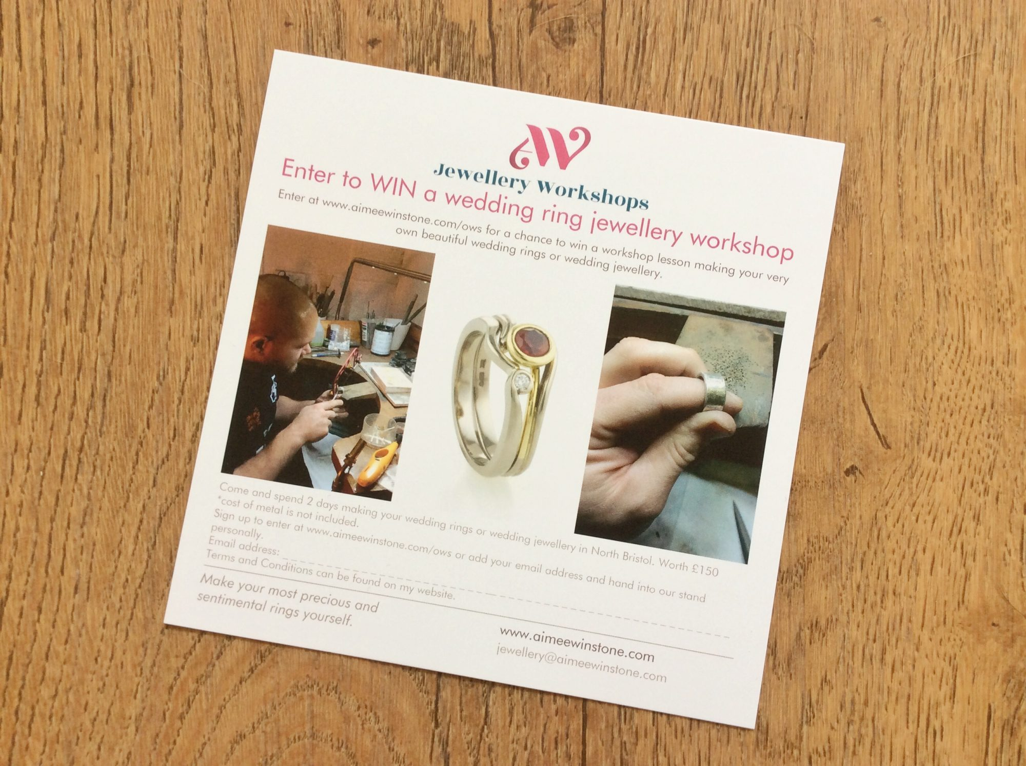 competition to win a jewellery making workshop