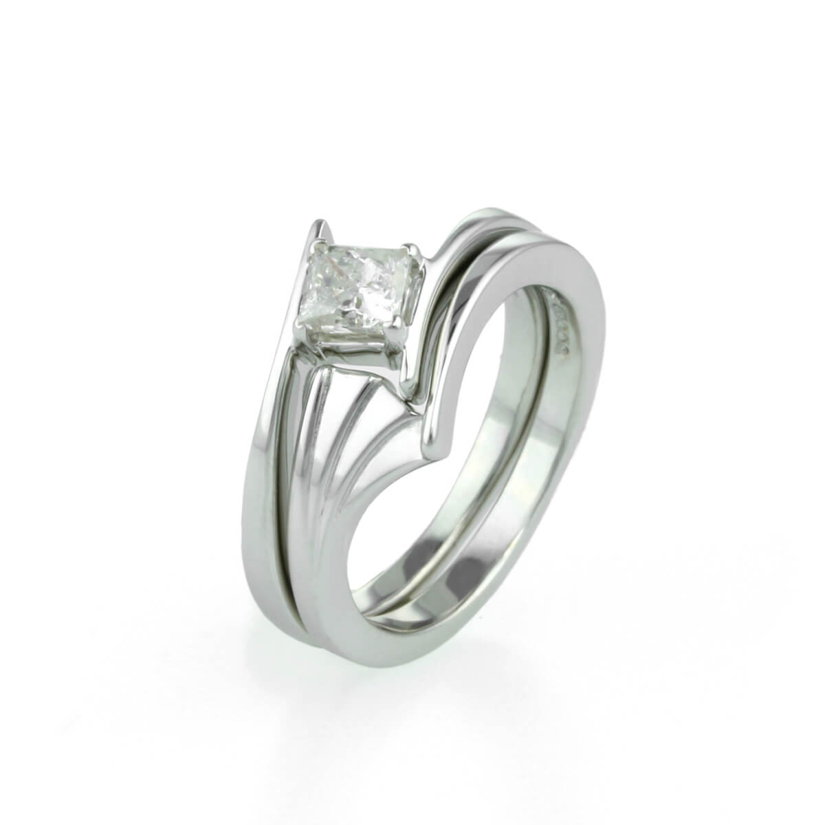 Ladies Art Deco Inspired Wedding Ring