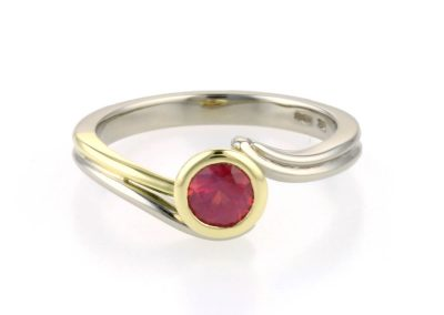 ruby jungle vine inspired engagement ring