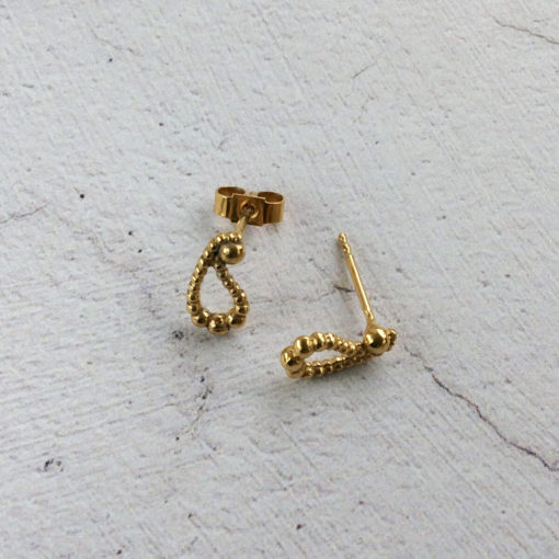 Small-Gold-Plated-Silver-Paisley-Stud-Earrings