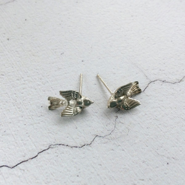 silver bird stud earrings Aimee Winstone