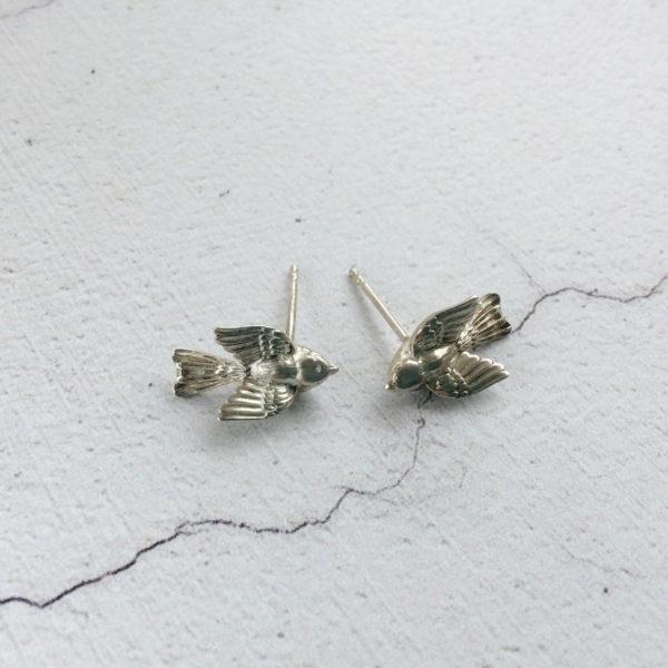 silver bird stud earrings Aimee Winstone